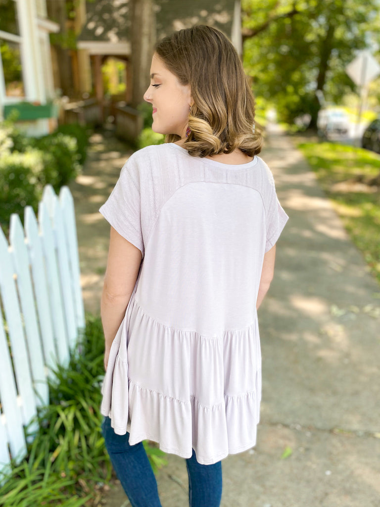 Tiered Back Tunic Top