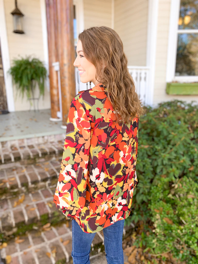 Peace Love Cake Liz Top: Autumn Floral Fest