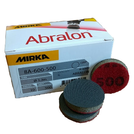 "Mirka Abralon 1.3"" Foam Polishing Grip Discs, 8A-600 Series"