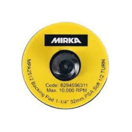 "Mirka 1.25"" (32mm) Quick Lock Soft PSA Backup Pad, 1125S-R"