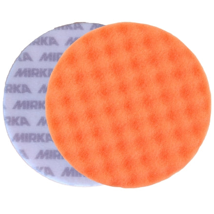 "Mirka 6"" Orange Waffle Foam Cutting Pad, 2-Pack, MPADOF-6W"