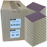 Mirka Purple 100 Grit Sponge Hand Sanding Pads, 2-Sided, 1356-100B, Case of 250