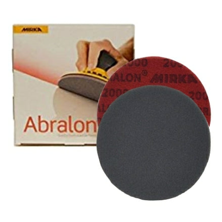 "Mirka Abralon 5"" Foam Polishing Grip Discs, 8A-232 Series"