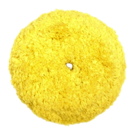 "Mirka 7.5"" Yellow Acrylic Wool Blend Polishing Grip Buff Pad, MPADTWY-7.5-1.5"