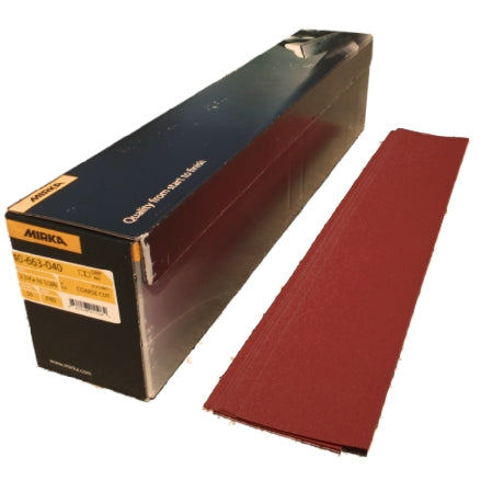 "Mirka Coarse Cut 2.75"" x 16.5"" Grip Solid Sanding Board Paper, 40-663 Series"