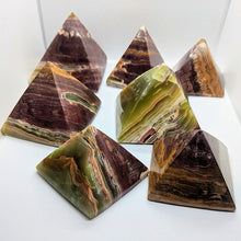 Load image into Gallery viewer, Banded Onyx Stone Pyramids