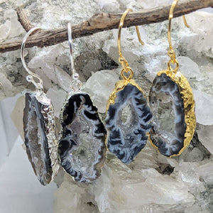 Druzy agate earrings