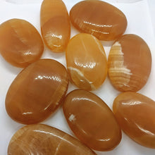 Load image into Gallery viewer, Honey Calcite Palm Stones