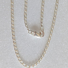 Load image into Gallery viewer, Long Curb Sterling Silver Necklace