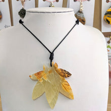 Load image into Gallery viewer, Marijuana Stone Leaf Necklace