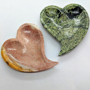 Mixed Stone Heart Dish