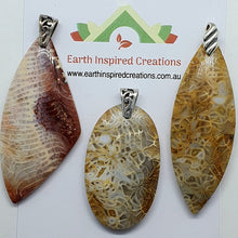 Load image into Gallery viewer, Petrified Coral Pendants