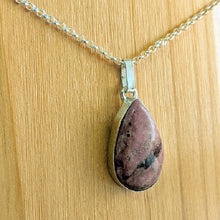 Load image into Gallery viewer, Rhodonite pendant