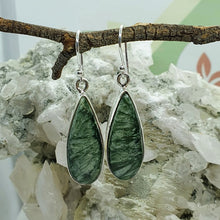 Load image into Gallery viewer, Seraphinite earrings