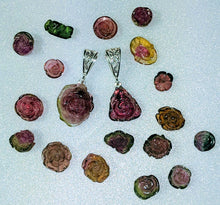 Load image into Gallery viewer, Carved Tourmaline Pendants