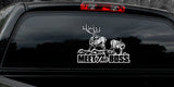 "BULL ELK DECAL Titled ""Meet the Boss"" By Upstream Images"