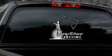 ANY RIVER ANY TIME FLY FISHING DECAL By Upstream Images