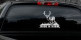 "MULE DEER DECAL Titled ""Ride'n High"" By Upstream Images"