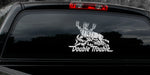 "MULE DEER DECAL Titled ""Double Trouble"" By Upstream Images"