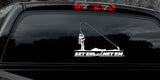 SET'EM AND NET'EM FISHING DECAL By Upstream Images