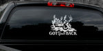 "MULE DEER DECAL Titled ""Got Your Back"" By Upstream Images"