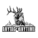 "BULL ELK DECAL Titled ""Any Tag Any Time"" By Upstream Images"
