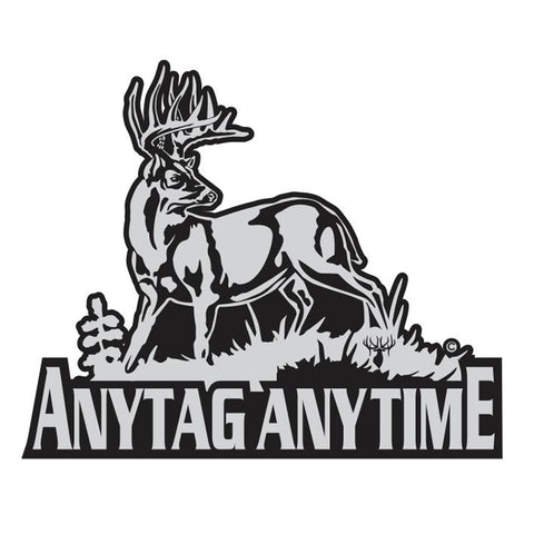 "WHITETAIL DECAL Titled ""Any Tag Any Time"" by Upstream Images"