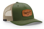 ARMY GREEN/TAN-LEATHER UPSTREAM HAT