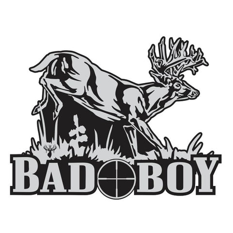 "WHITETAIL DECAL Titled ""Bad Boy"" by Upstream Images"