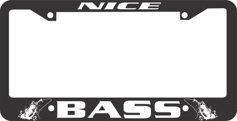 BASS LICENSE PLATE FRAME-NICE BASS