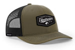 BLACK/OLIVE UPSTREAM HAT