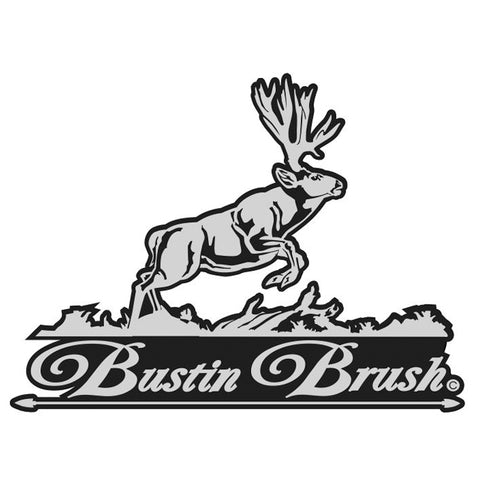 "MULE DEER DECAL Titled ""Bustin Brush""  By Upstream Images"
