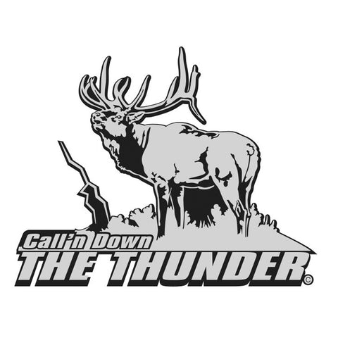 "BULL ELK DECAL Titled ""Calling Down the Thunder"" By Upstream Images"