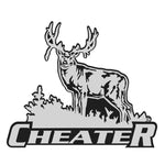 "MULE DEER DECAL titled ""Cheater"" By Upstream Images""."