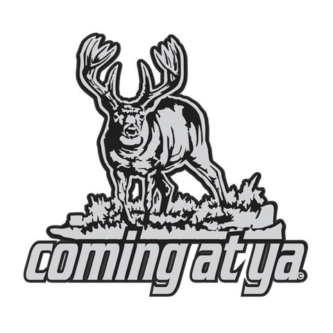 "WHITETAIL WINDOW DECAL Titled ""Coming at ya"" By Upstream Images"