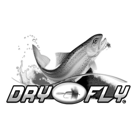 "TROUT DECAL Titled ""Dry Fly"" By Upstream Images"
