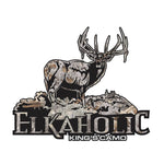 "CAMO ELK DECAL Titled ""ELKAHOLIC"" By Upstream Images"