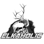 "BULL ELK DECAL titled ""Elkaholic"" By Upstream Images"