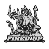 "BULL ELK DECAL Titled ""FIRED UP"" By Upstream Images"