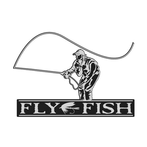 FLY FISH DECAL By Upstream Images