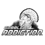 "TURKEY HUNTING DECAL Titled ""Gobbler Addiction"" By Upstream Images"