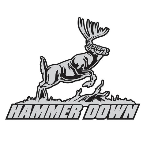 "WHITETAIL DECAL Titled ""Hammer Down"" By Upstream Images"