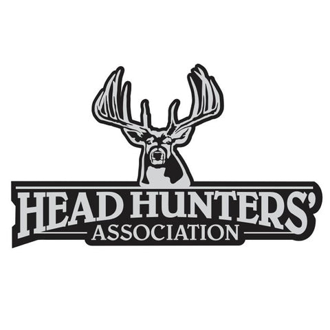 "WHITETAIL DECAL Titled ""HEAD HUNTERS ASSOC"" By Upstream Images"