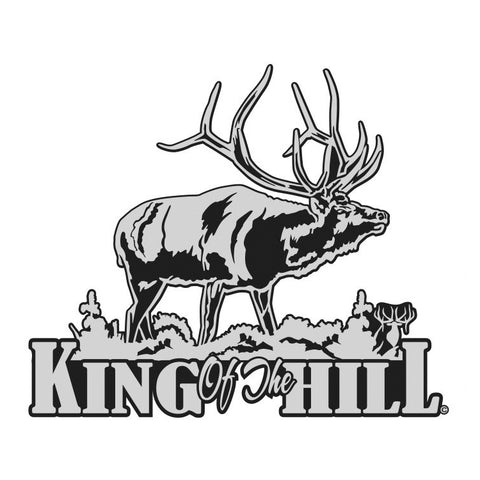 "BULL ELK DECAL Titled ""King of the Hill"" By Upstream Images"