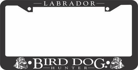 LAB LICENSE PLATE FRAME-BIRD DOG