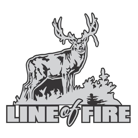 "MULE DEER DECAL Titled ""Line of Fire"" By Upstream Images"