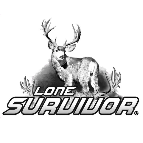 "MULE DEER DECAL Titled ""Lone Survivor"" By Upstream Images"