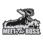 "BULL MOOSE DECAL Titled ""MEET THE BOSS"" By Upstream Images"