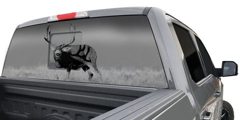 MULE DEER ON HORIZON WINDOW GRAPHIC