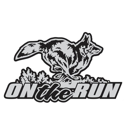 "COYOTE DECAL Titled ""ON THE RUN"" By Upstream Images"